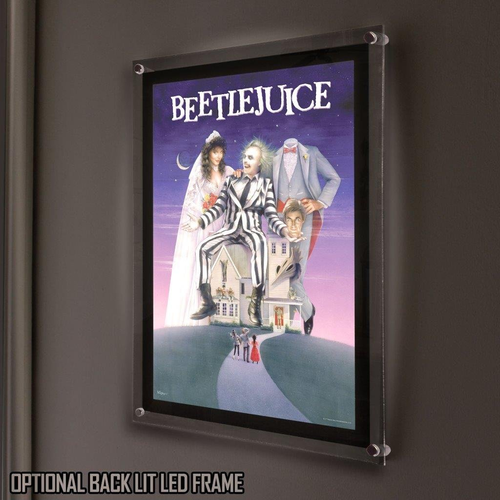 Mightyprint Beetlejuice Movie Poster Art Wall Kaos Catching Fire Paperless Lasting Light Dcor Posters Prints