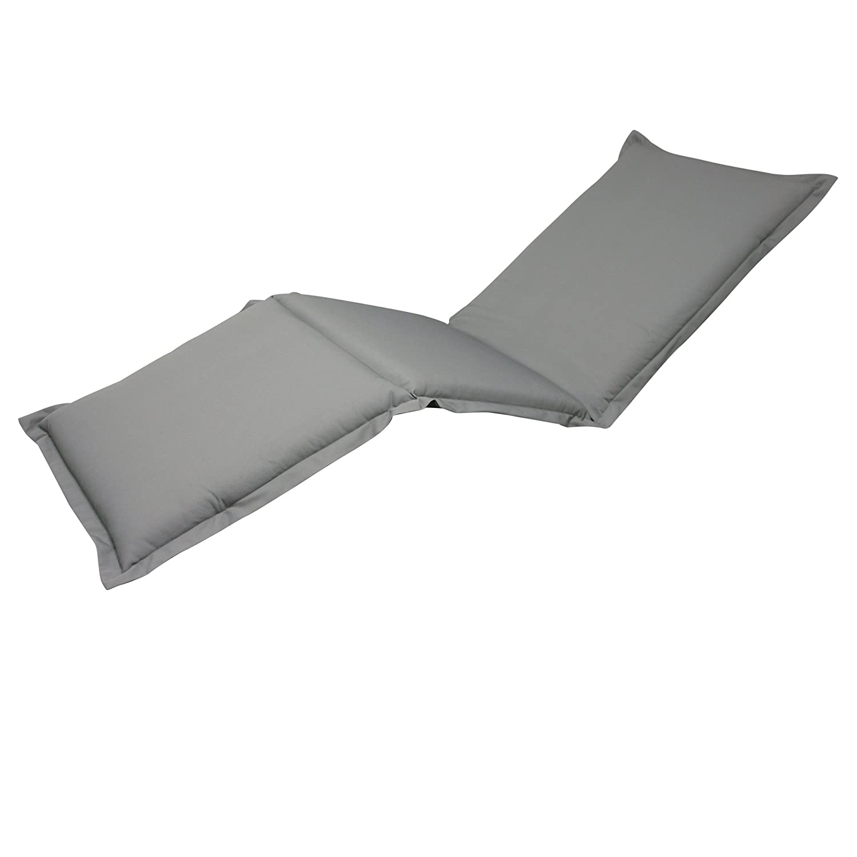 indoba® IND-70425-AUSL - Serie Premium - Auflage Gartenliege - extra dick, Grau