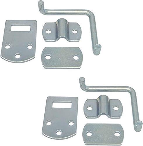 Pkg of 2 Corner Gate Latch Sets for Stake Body Gates – Clear Zinc