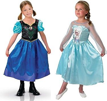 Rubies Costume Company Frozen - Disfraz Anna y Elsa - Talla L ...