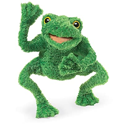 Folkmanis Long Legged Frog Hand Puppet: Toys & Games