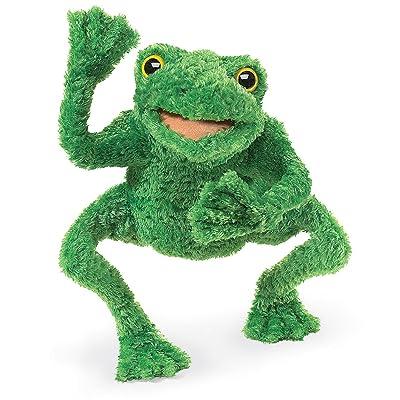 Folkmanis Long Legged Frog Hand Puppet: Toys & Games