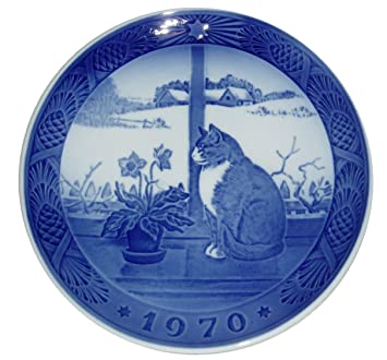 Amazon.com: ROYAL COPENHAGEN 1970 Porcelin Christmas Plate - Rose ...