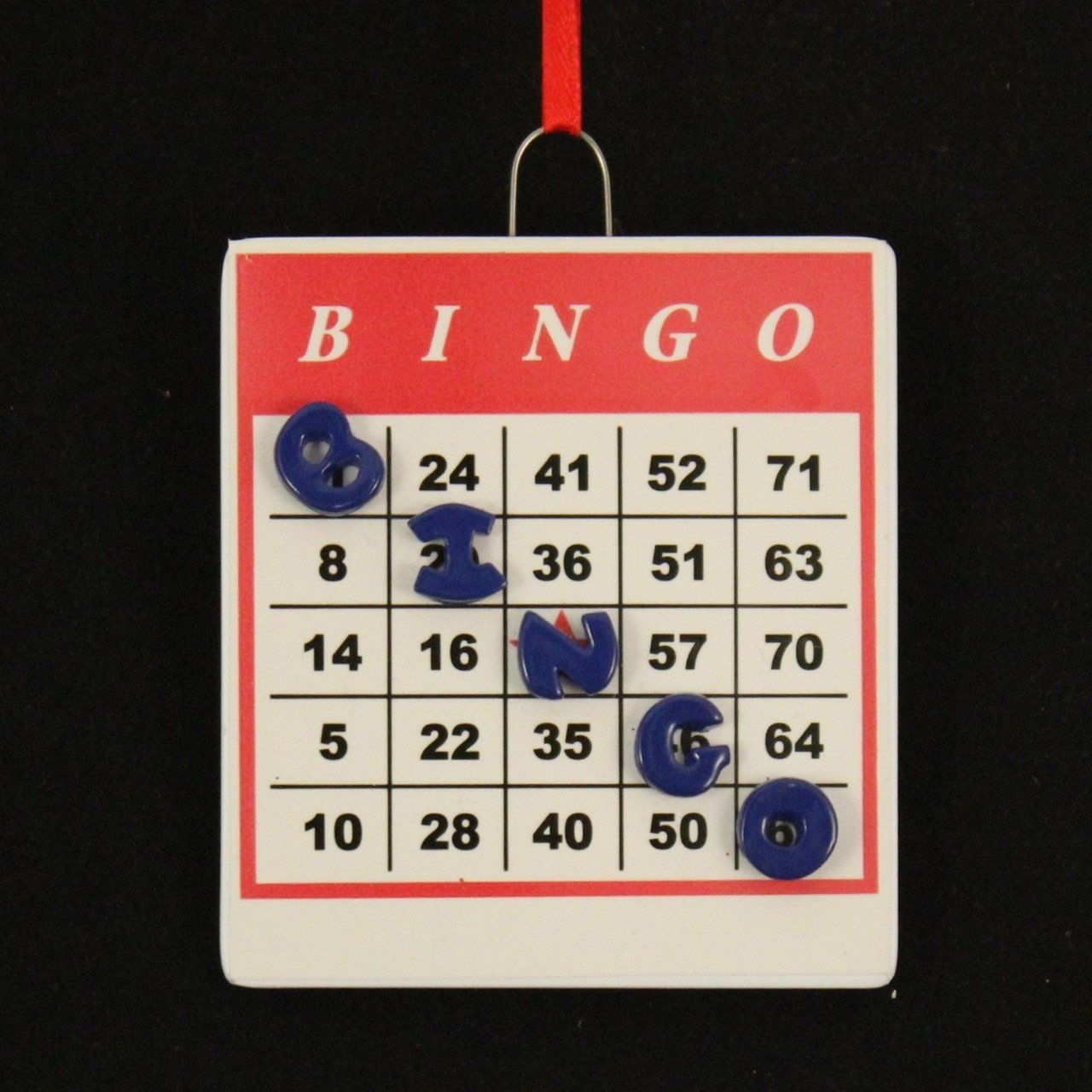 Bingo Ornament by Rudolph and Me