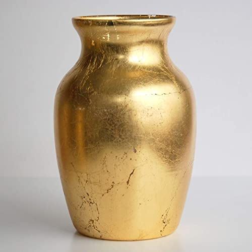 Red Pomegranate Gilt Vase, One Size, Gold