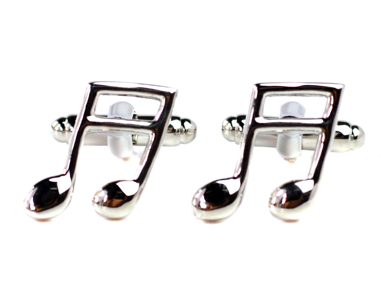 / Quaver corchea - Notas Musicales gemelos - Camisa accesorios para los amantes de la música Beaux Bijoux se