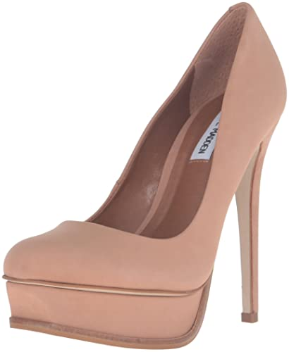 Steve Madden Women's Kiss Dress Pump, Tan Nubuck, ...