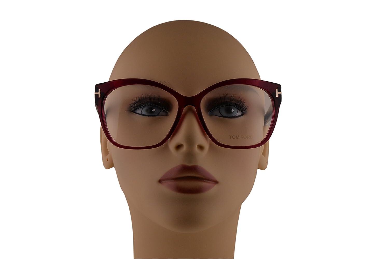 cedacf23cc00 Tom Ford FT5435 Eyeglasses 57-15-140 Fuchsia Red Crystal 075 TF5435   Amazon.co.uk  Clothing