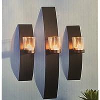 Modern y Decorativa 3Juego de portavelas para Velas