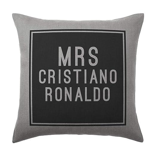 Cristiano Ronaldo Cojín - gris plata - Bloc de 100% algodón ...