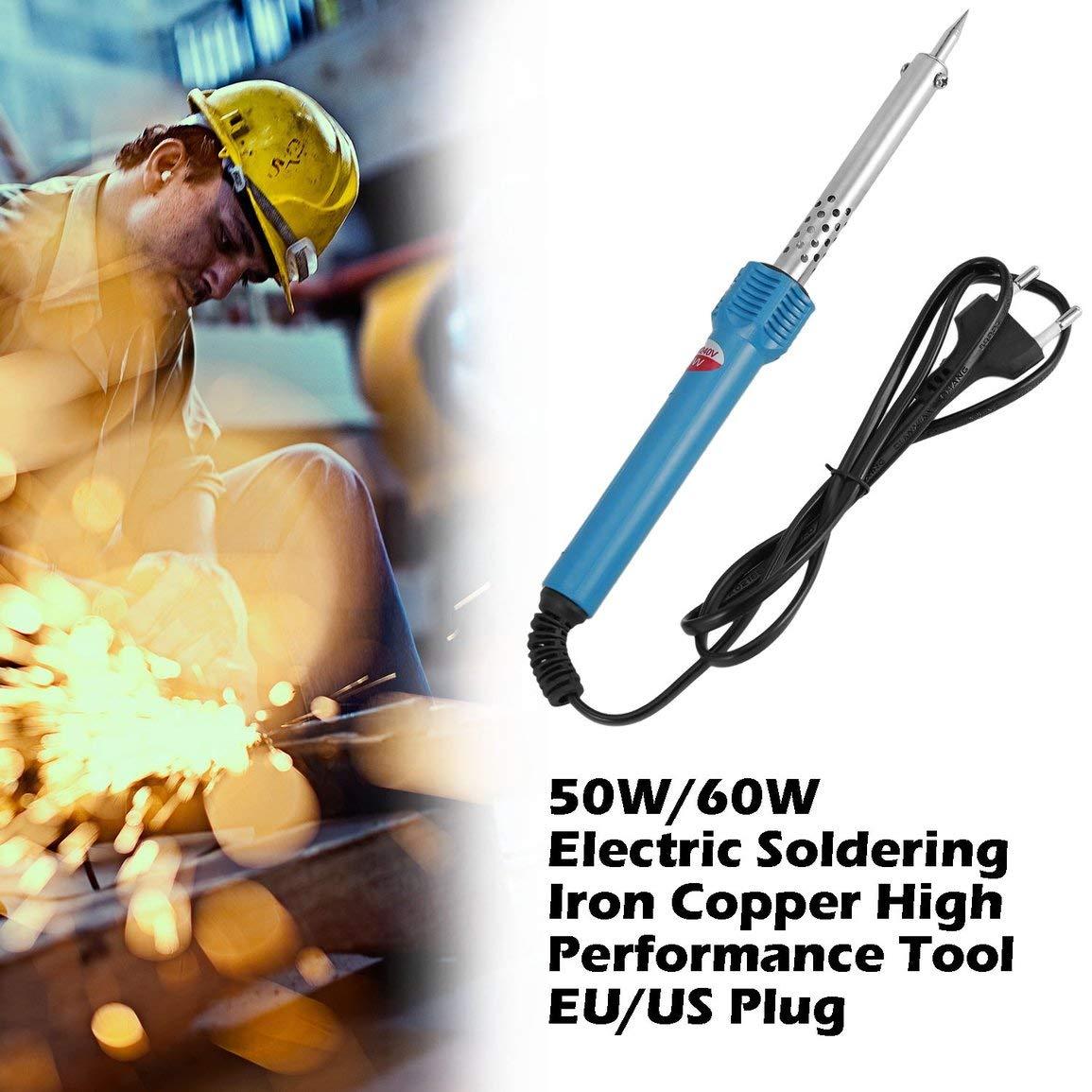 Couvercle en Acier r/ésistance /à Haute temp/érature Isolation Anti-br/ûlure 50W // 60W Fer /électrique /à souder en cuivre Prise EU//US fghfhfgjdfj