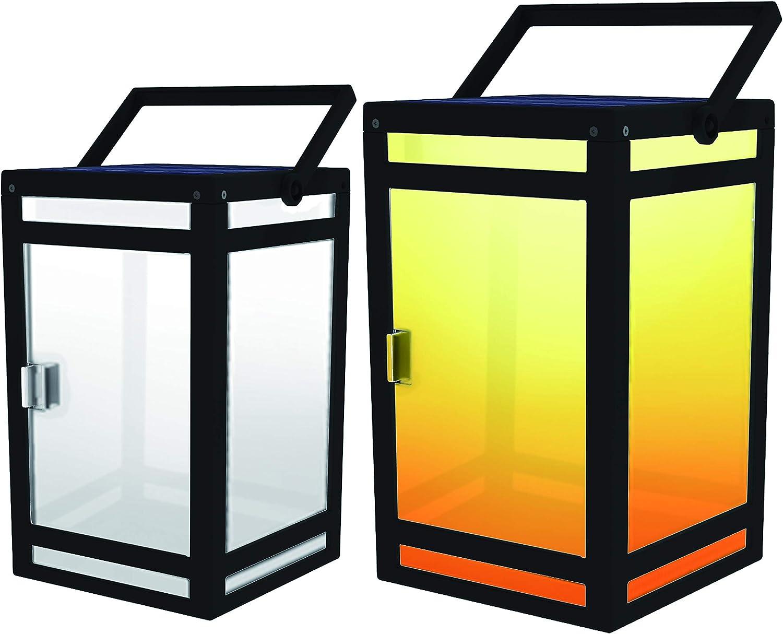 TECHKO Black Solar LED Outdoor Wall Lantern Sconce