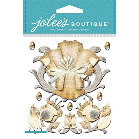Boutique dimensionale carta adesivi-Vintage fiori di Jolee  Amazon ... d096661c6e04