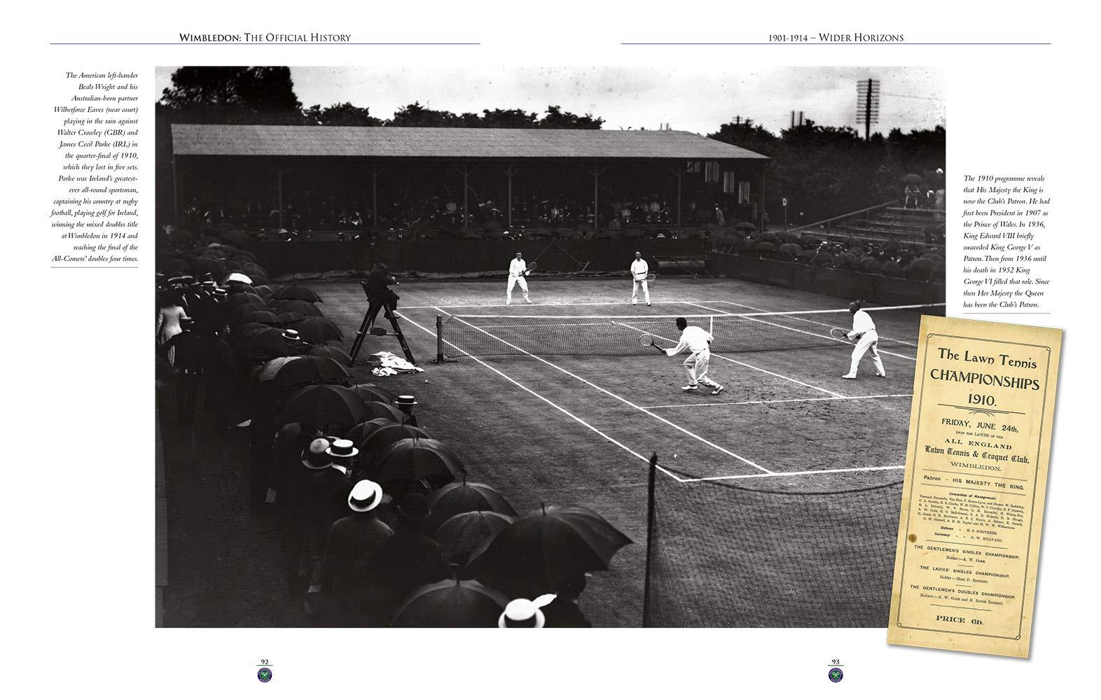 Wimbledon The Official History John Barrett 9781909534230 Amazon Tennis Racquet Diagrams Fame Hall Inductee International Books