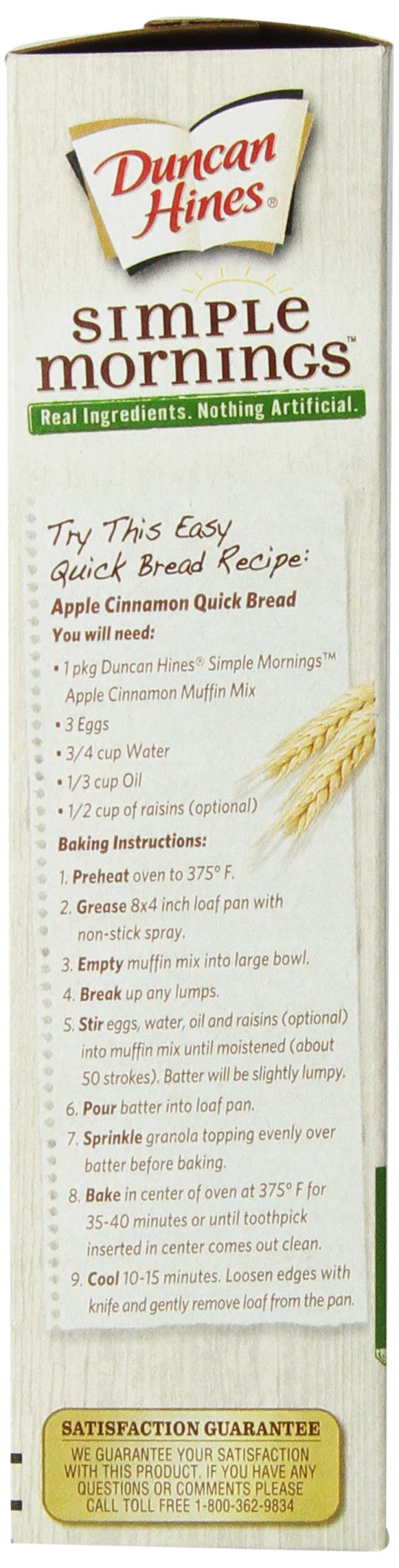 Duncan Hines Simple Mornings Oatmeal Muffin Mix, Apple Cinnamon, 16.1-Ounce (Pack of 12) by Duncan Hines (Image #6)