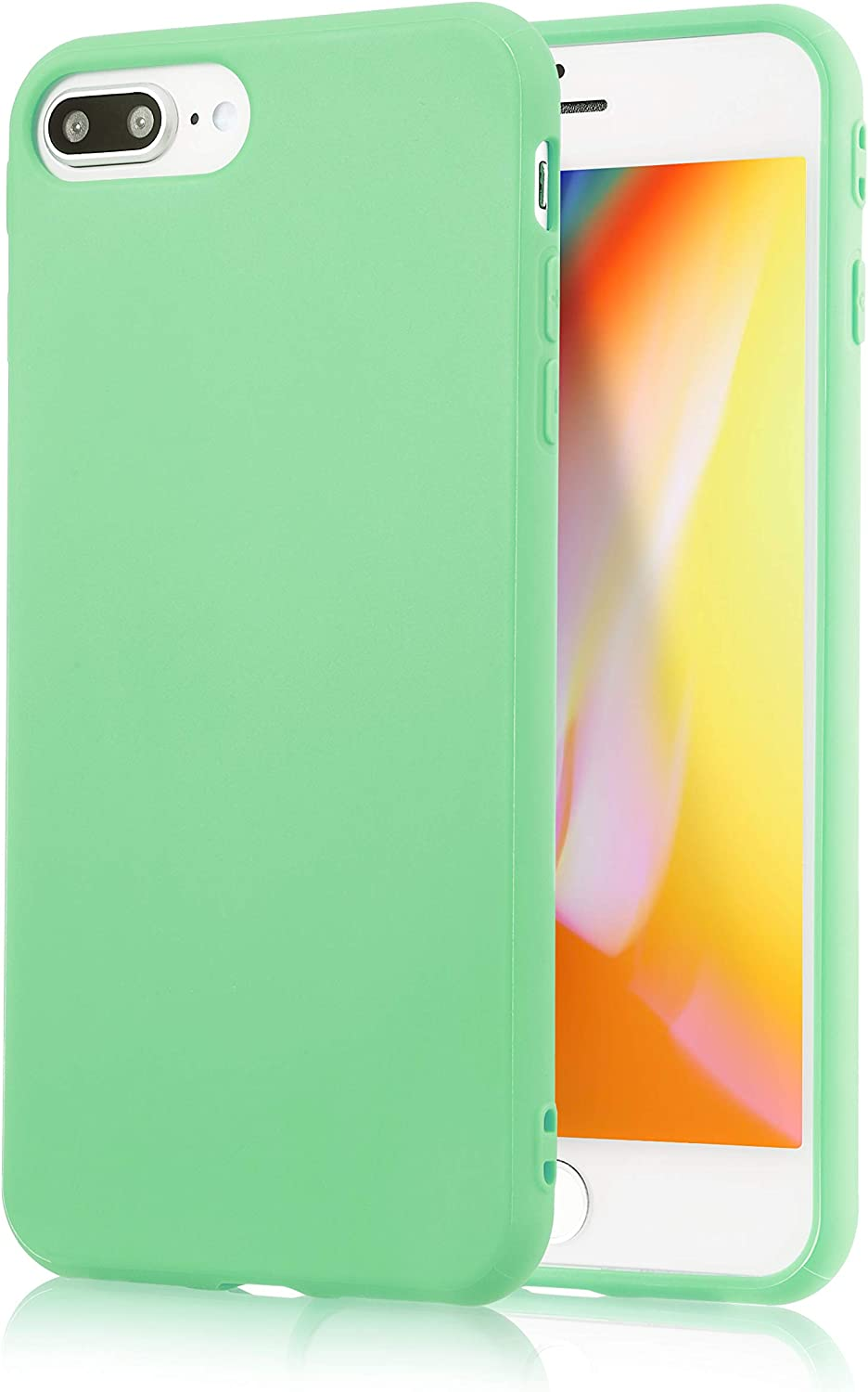 iPhone 7 Plus Mint Case/iPhone 8 Plus Mint Case, technext020 Shockproof Ultra Slim Fit Silicone TPU Soft Gel Rubber Cover Shock Resistance Protective ...