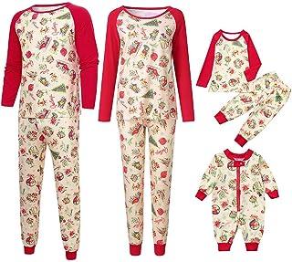 Fatchot Family Matching Clothes Christmas Pyjama Sets Parent-Child Suit Homewear Family Clothing Set Women Man Newborn Baby Boy Girl Xmas Sleepwear Mommy Splice Tops Pants