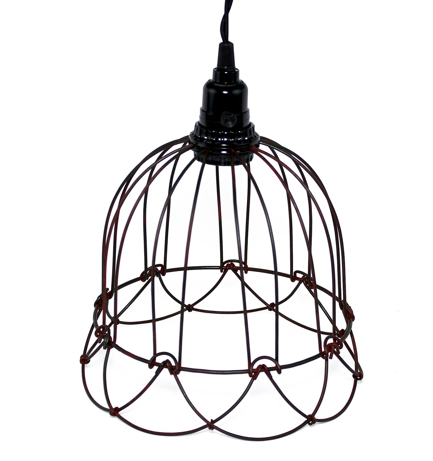 Wire Bell Pendant Lamp Rustic - Ceiling Pendant Fixtures - Amazon.com