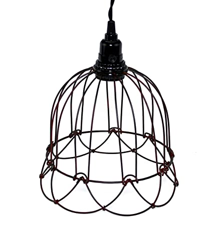 Wire Bell Pendant Lamp Rustic