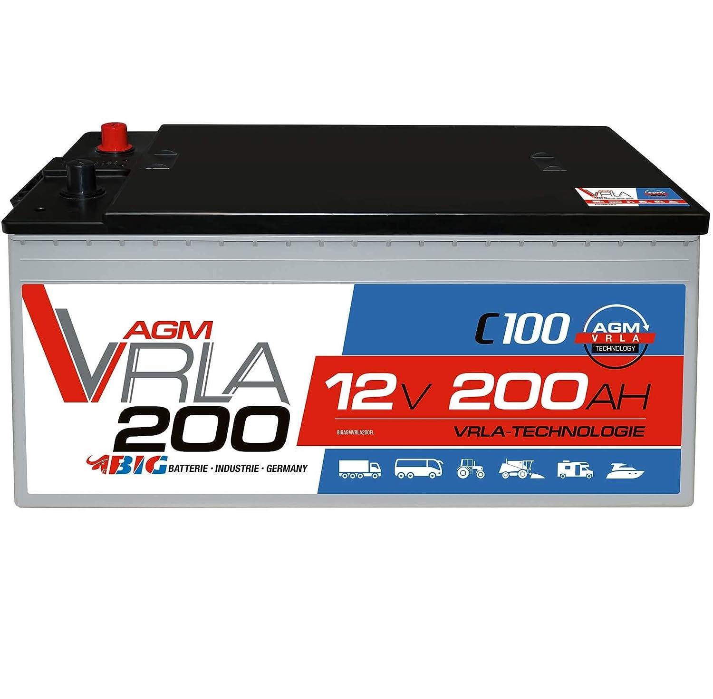 BIG AGM 125Ah 12V Versorgungsbatterie Solarbatterie Wohnmobil Boot Batterie GEL 105Ah 120Ah