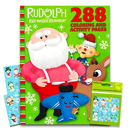 Amazon.com: Rudolph the Red-Nosed Reindeer Giant Coloring Book with ...