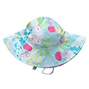 i play. Baby Girls' Brim Sun Protection Hat, Aqua Coral Reef, 9-18 Months