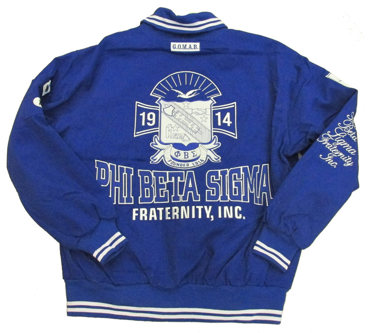 Phi Beta Sigma Varsity Trimmed African American Fraternity HBCU Mens Big & Tall Jacket (2x large)