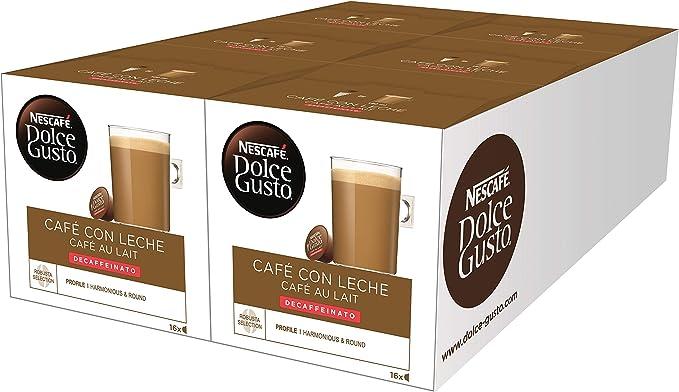 Nescafé Dolce Gusto Café con Leche Descafeinado, 96 Cápsulas ...