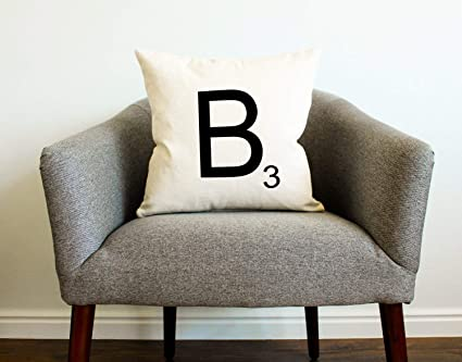 Amazon Com Personalized Scrabble Tile Pillow Home Decor Gift For