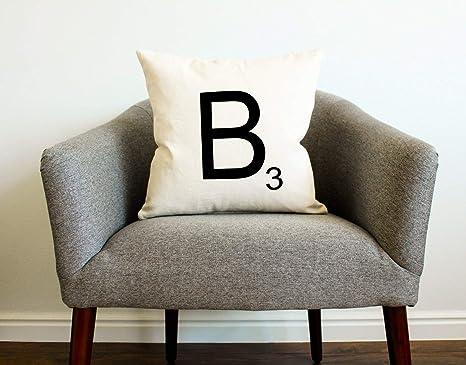 Amazon.com: Almohada para azulejos de Scrabble ...