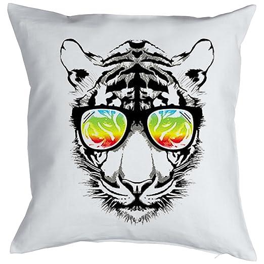 Retro Tiger Cat chatear Gatti Gatos Cojín, Pop Art Style ...