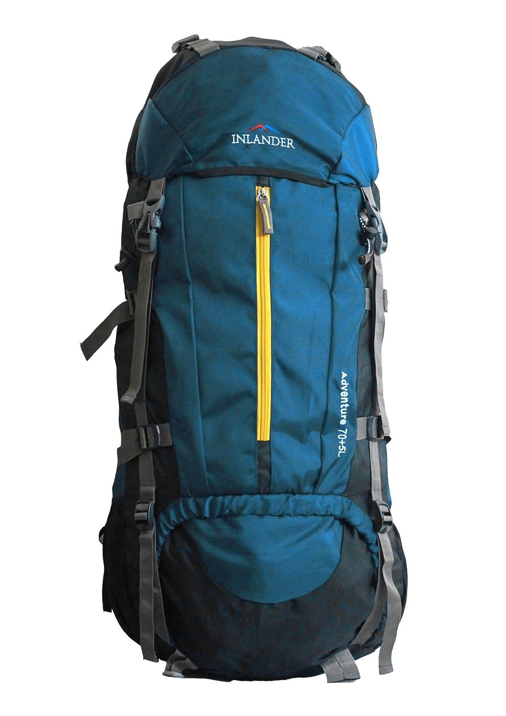 INLANDER, 70L Teal Blue Travel Bag Backpacking Backpack for Outdoor Hiking Trekking Camping Rucksack