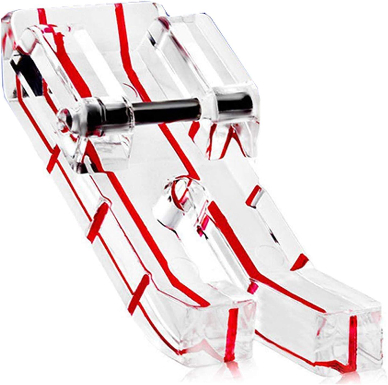 DreamStitch - Prensatelas visor transparente (0,6 cm) para máquina de coser . Compatible con todos los modelos de vástago bajo como: Singer, Brother, Babylock, Euro-Pro, Janome, Kenmore, White, Juki,
