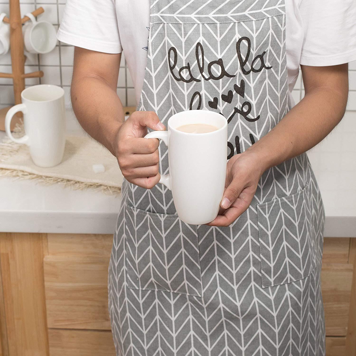 Panbado 2 x Tazas de Café/Té de Porcelana Blanca Tazas de Cerámica ...