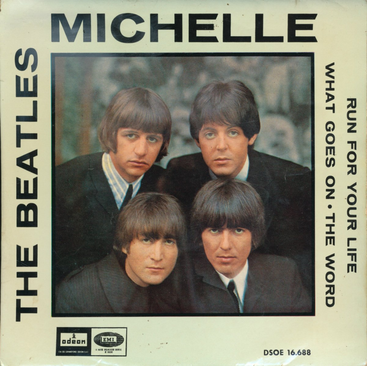 Beatles Michelle + 3 Spain Import Ep With Picture Sleeve Odeon Original -  Amazon.com Music
