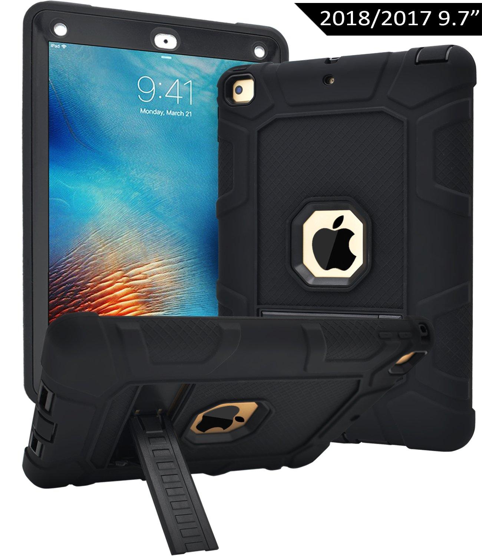 Dailylux Funda para Nuevo iPad 9.7 ulgada 2017/2018 Esquina Parachoques Amplificación de Sonido Protección de Alta Resistencia y Protector Incorporado de Pantalla para Apple iPad 9,7 pulgada 2017 -oro rosa TA0004-02-EU