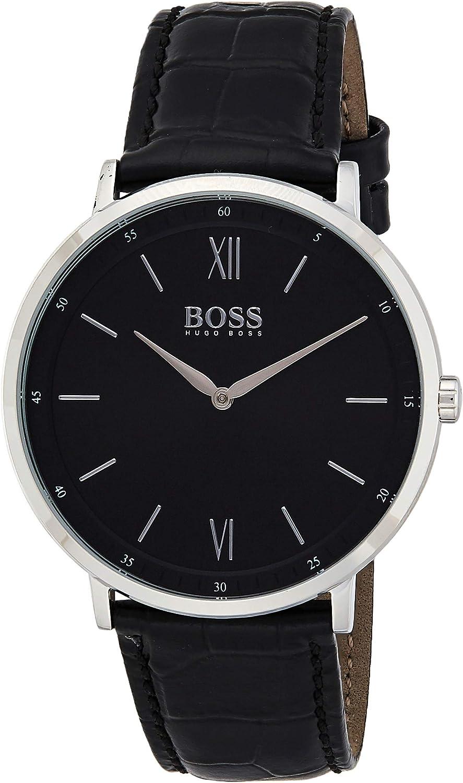 Hugo BOSS Reloj Analógico para Hombre de Cuarzo con Correa en Cuero 1513647