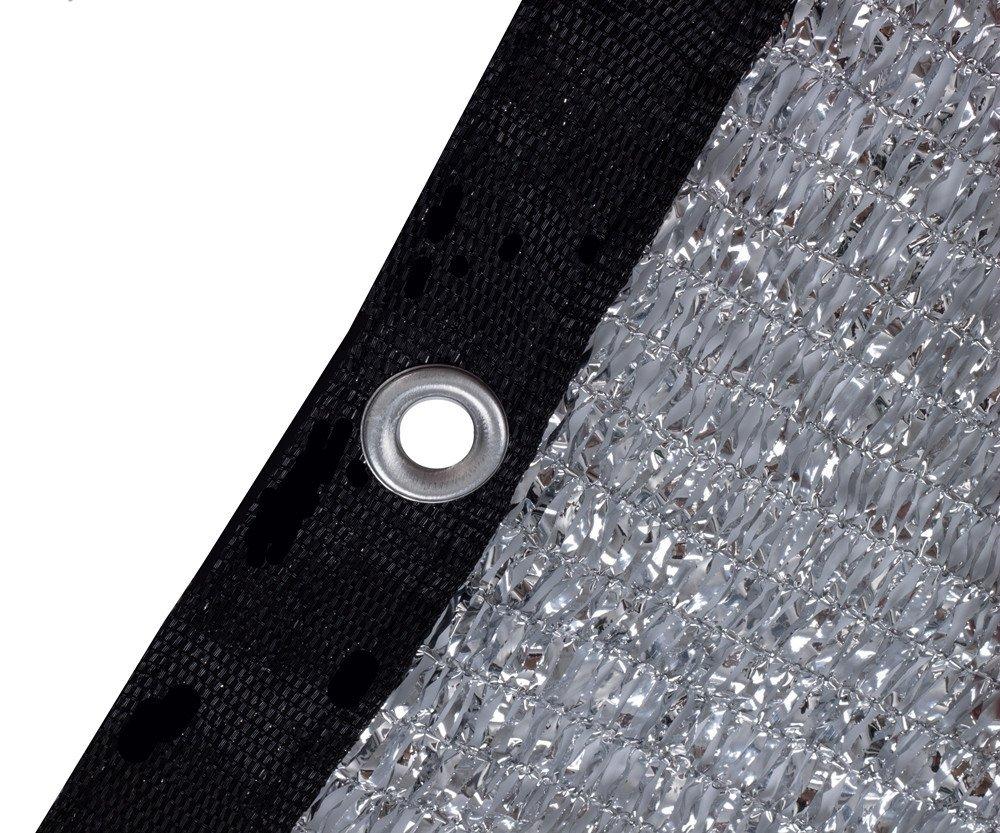 Fabric Sun Block Sun Reflect-FREE 12pcs 6 BALL BUNGEE soclerg 70/% Aluminet Shade Cloth 6.5 ft x 6 ft