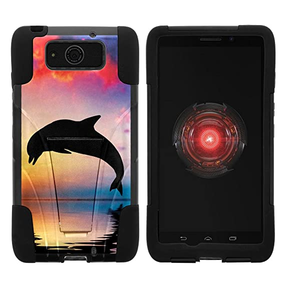 low priced cce74 2e100 Motorola Droid Maxx Case | Droid Ultra Case | XT1080 [Gel Max] Hybrid Dual  Layer Case Silicone Hard Shell Kickstand Cover Ocean Sea Design by ...