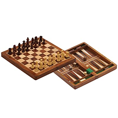Family portable game board with magnetic chess