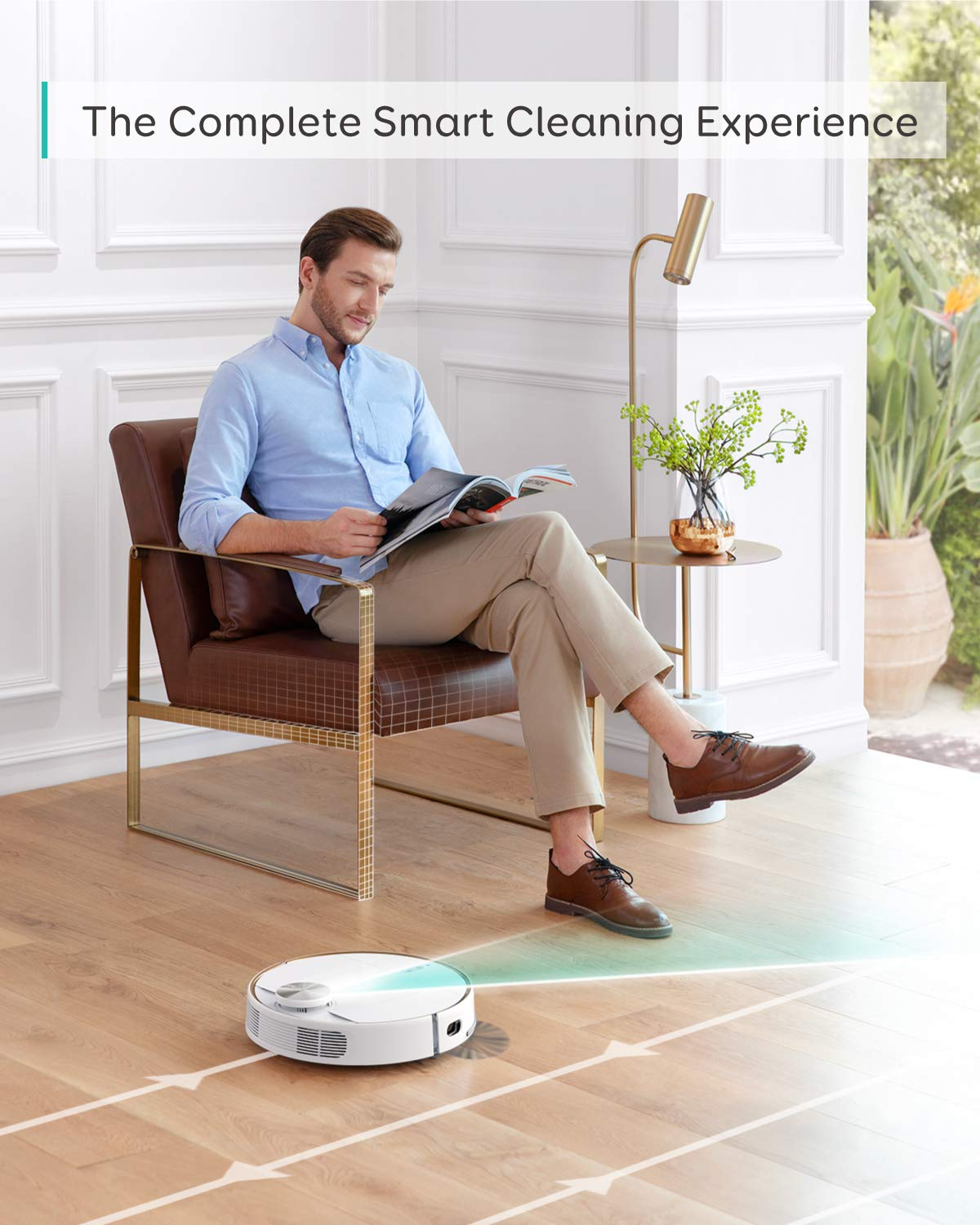 eufy RoboVac L70 Hybrid, Robot Vacuum Cleaner, iPath Laser Navigation, 2-in-1 Sweeping and Mopping, Wi-Fi, 2200Pa Strong Suction, Quiet, Self-Charging Robotic Vacuum, Ideal for Hardwood Floors