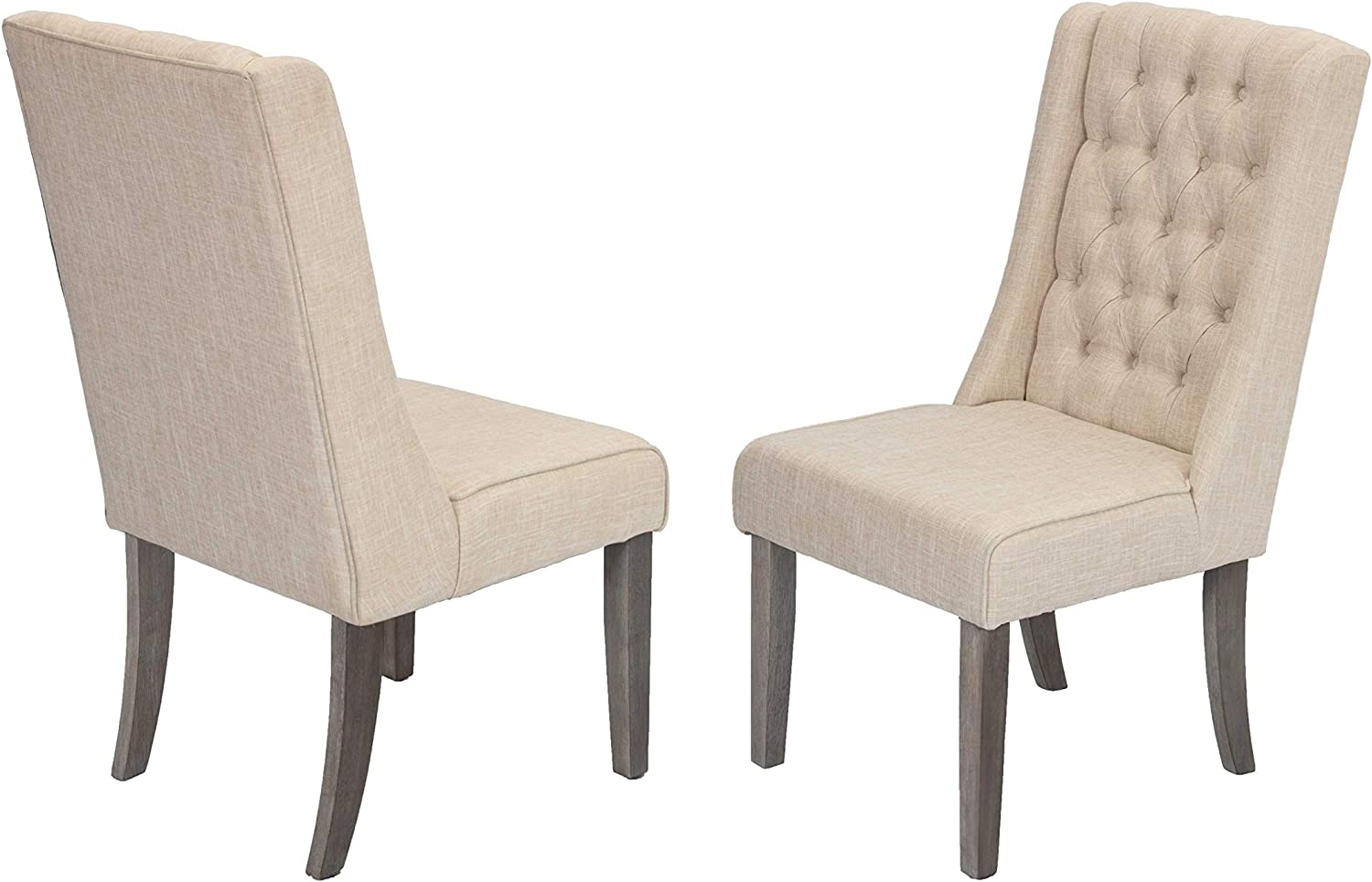 Best Quality Furniture 6 D25-SC2 Dining Chairs (Set of 2) Beige