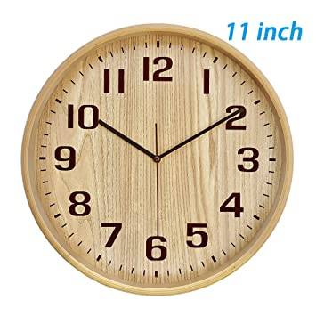 Amazon.com: Classic Handmade Silent Wall Clock, T&HOME 11 Inches ...