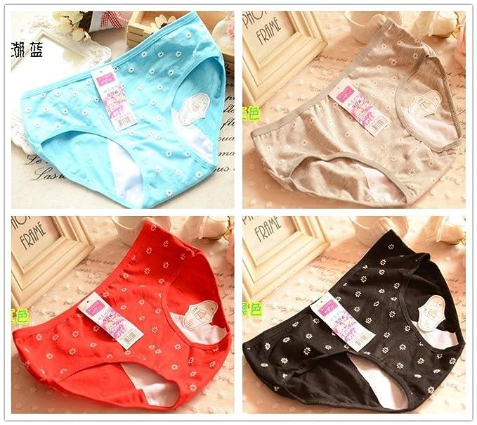 4 pcs flores menstruación niña mujer Slip bragas calzoncillos ropa interior M/L