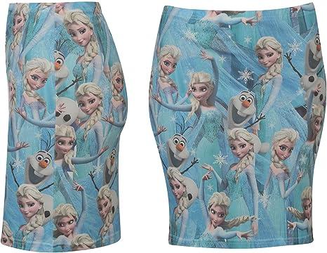 Disney Frozen Tubo Falda Mujer Azul/Multi Carácter Mini Falda Azul ...