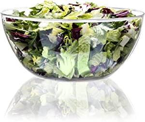 Youngever 4 Pack 115OZ Large Clear Plastic Mixing and Serving Bowls, Popcorn Bowls, Salad Bowls, Chip and Dip Serving Bowls