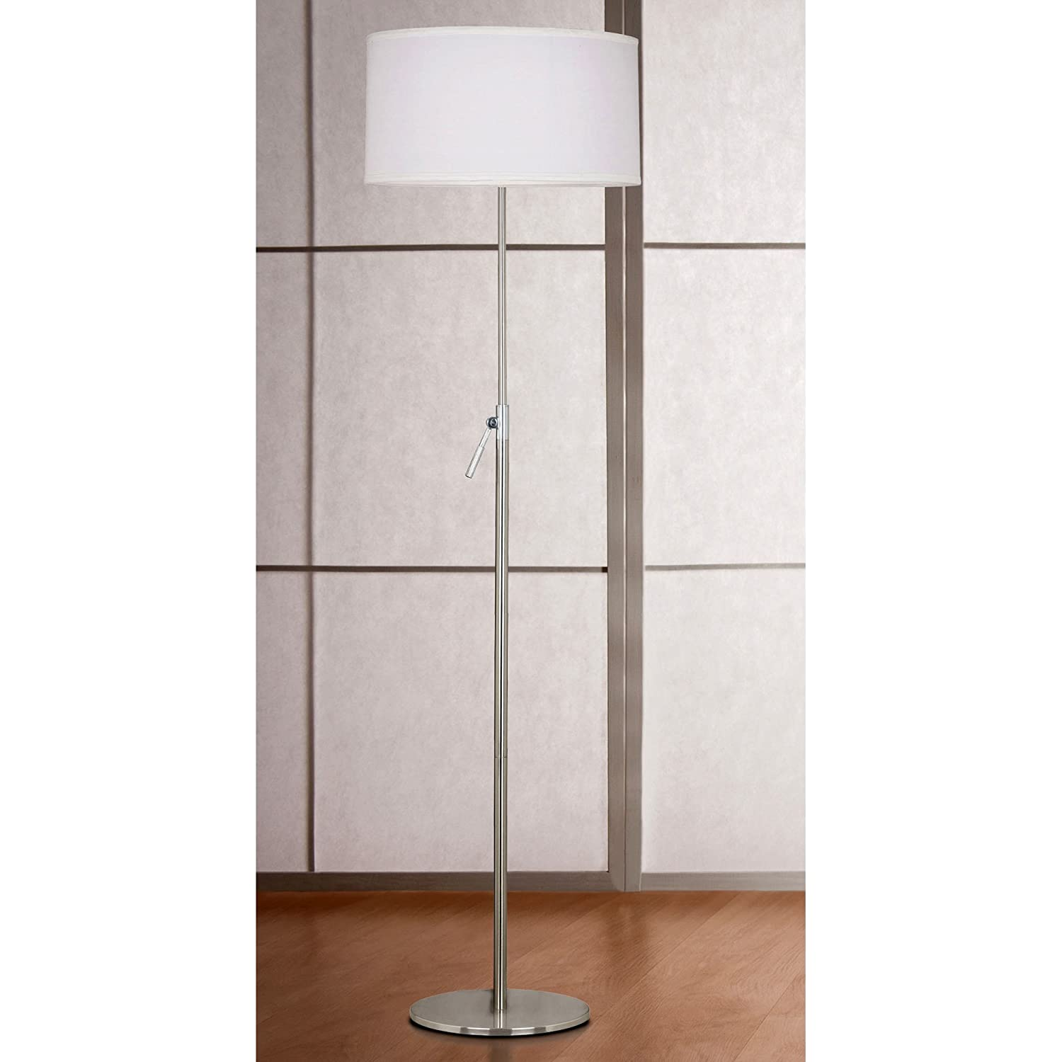 Kenroy Home 20111BS Propel Adjustable Floor Lamp, Brushed Steel   Floor  Lamps Modern   Amazon.com