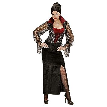WIDMANN 04043 - Traje adulto del vampiro Señora, Vestido, L, negro ...