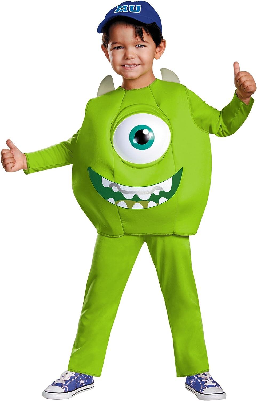 Monster Uni Kostum.Amazon Com Disney Pixar Monsters University Mike Boys Deluxe Costume Large 4 6 Toys Games
