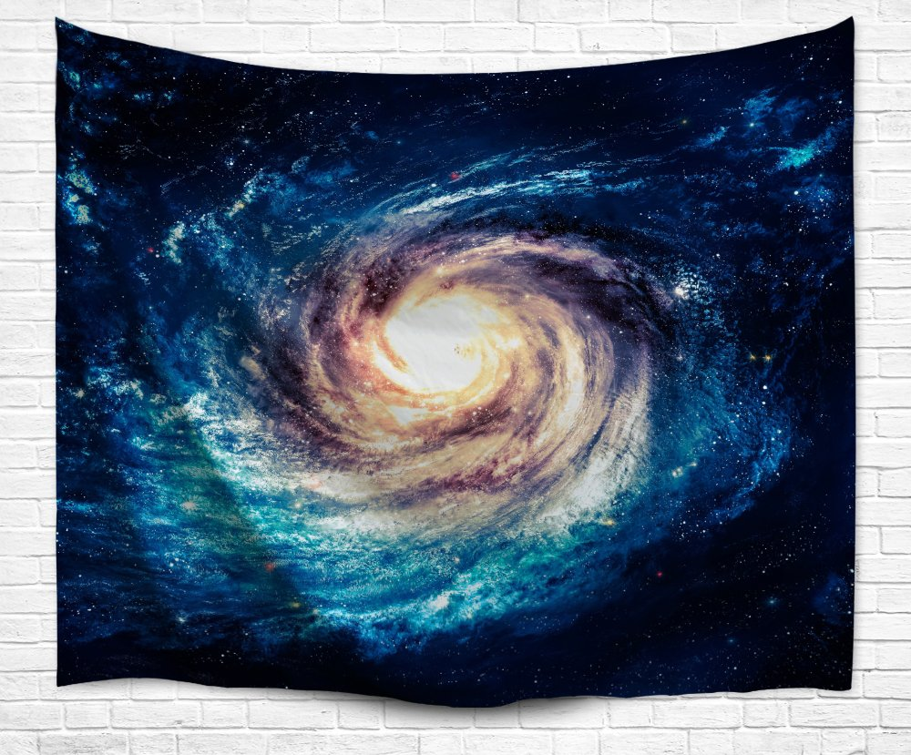 Galaxy Space Tapestry Wall Hanging, Universe Theme Asterism Star Wall Decor Blanket Bohemian Out Space Tapestry Solid Colored Printed Decorative Mandala Tapestry Wall Carpet (L60 X 50, Galaxy) HY Home